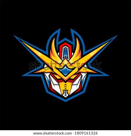king gundam robot esport logo