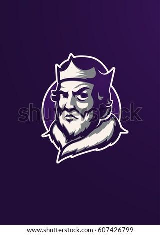 king head sports style logo mascot