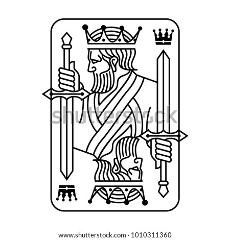 King holding sword playing card