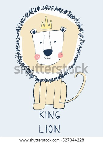 king lion cartoon  king of the