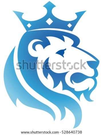 king lion icon vector