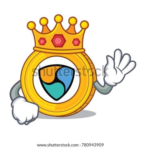 King NEM coin character cartoon