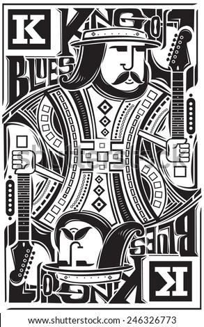 king of blues music artwork for poster
