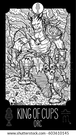 king of cups orc minor arcana