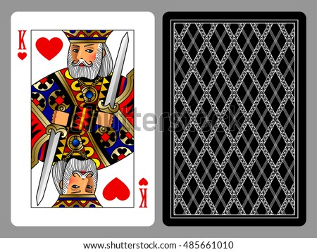king of hearts playing card and