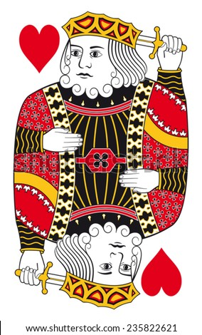King of hearts without playing card background