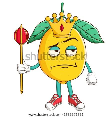 king of lemon cartoon character