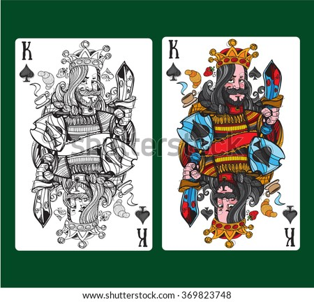 King of spades playing card.