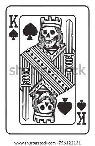 king of spades with skull