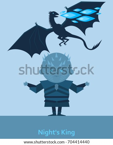 king of the night and dragon with blue flame