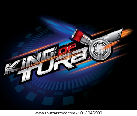 king of turbo icon concept