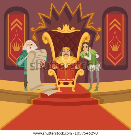 king on the throne and his
