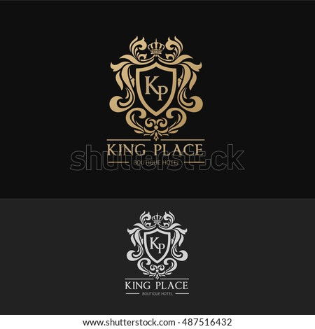 King Place luxury brand logo template.