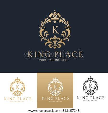 King Place Luxury Crest Royal Logo Template
