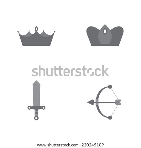 king  queen crown with sword