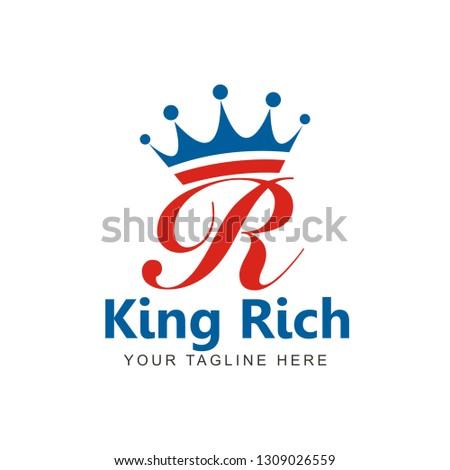 King Rich Logo or Initial R King Stock fotó ©