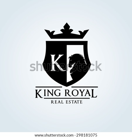 king royal crown horse logo k