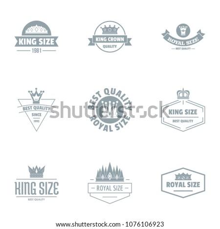king size logo set simple set