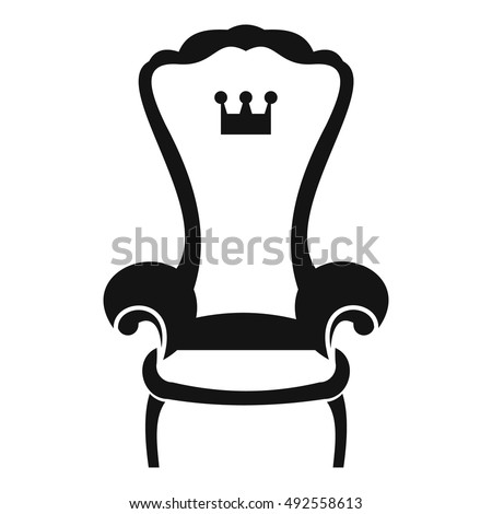 king throne chair icon in