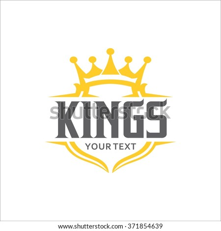King typography emblem