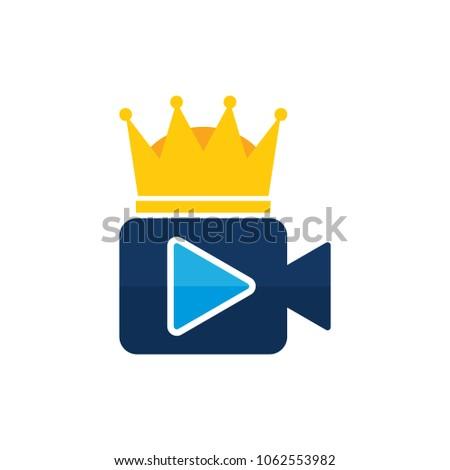 king video logo icon design