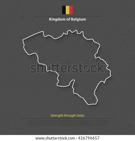 kingdom of belgium isolated map