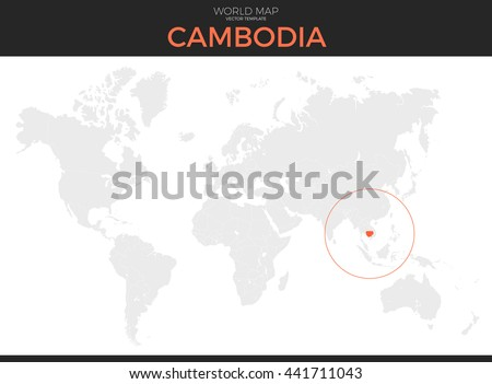 Grayscale vector worldmap download free vector art stock graphics kingdom of cambodia location modern detailed vector map all world countries without names vector gumiabroncs Image collections