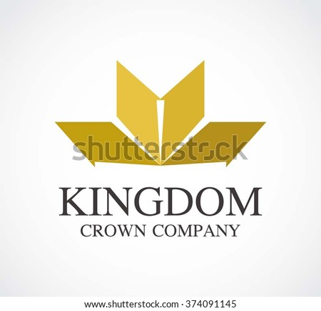 crown gold circle logos download free vector art stock graphics