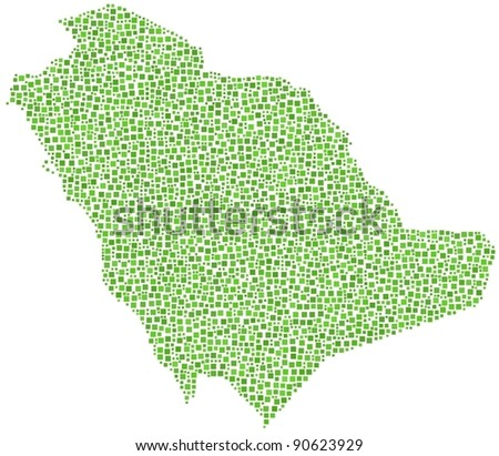 Kingdom of Saudi Arabia. A number of 3036 squares are inserted into the mosaic