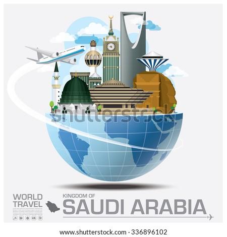 Kingdom Of Saudi Arabia Landmark Global Travel And Journey Infographic Vector Design Template