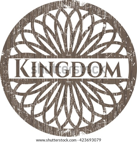 Kingdom vintage wood emblem