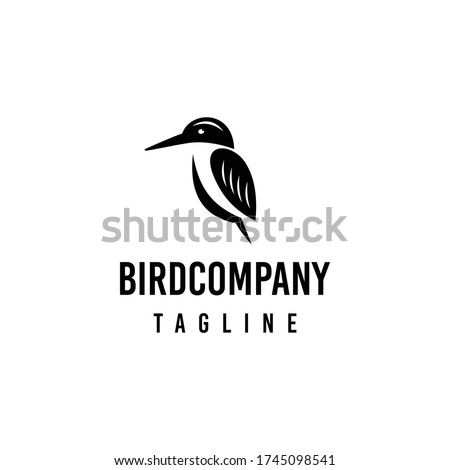 Kingfisher bird logo design. Awesome a kingfisher bird logo. A kingfisher bird logotype.