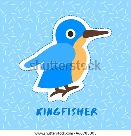 kingfisher   cute animal set