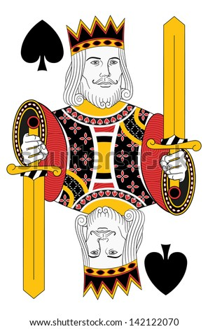 Kings of Spades without card. Original design
