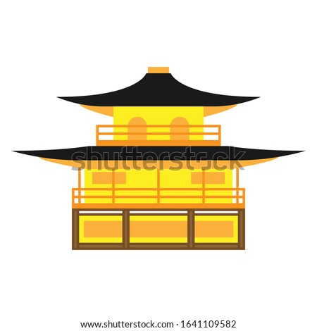 kinkaku ji temple vector