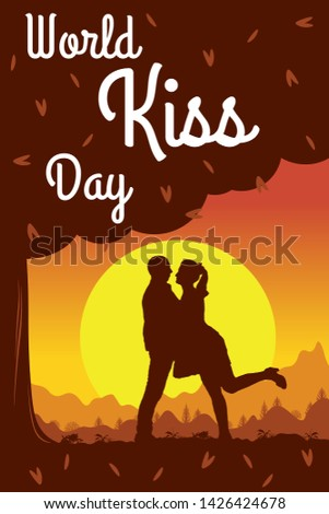 kiss day background romantic