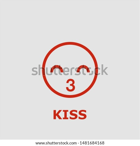 Kiss symbol. Outline kiss icon. Kiss vector illustration for graphic art.