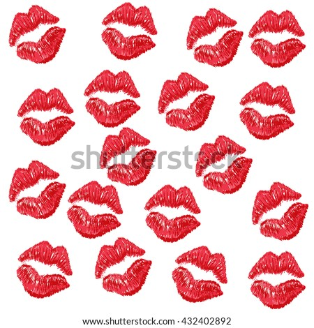 kisses kiss kissing pattern