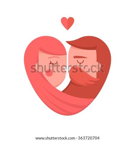 kissing couple flat