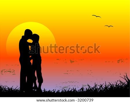 kissing lovers   beauty in