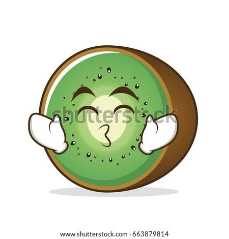 kissing smile eyes kiwi fruit