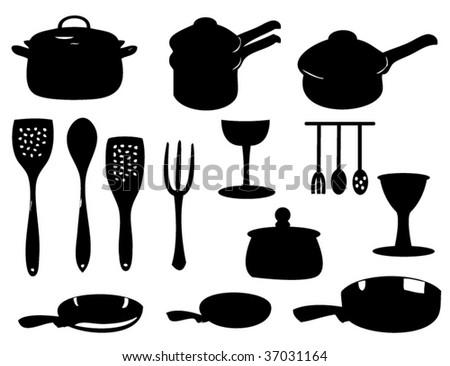 kitchen utensils silhouette vector free. Free Kitchen Utensils Vector Silhouette