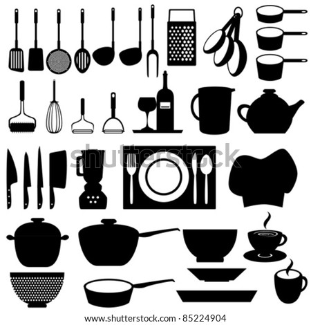Kitchen And Cooking Tools Utensils Stock Vector 85224904