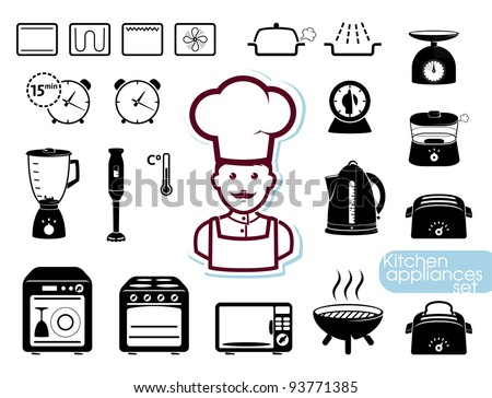 Kitchen Appliances Set Stock Vector Illustration 93771385. Long Curtains For Living Room. Display Living Room Decorating Ideas. Expensive Living Room Sets. Living Room Borders. How Big A Tv For My Living Room. A Big Living Room. Living Room Ideas Decorating. Plant Living Room