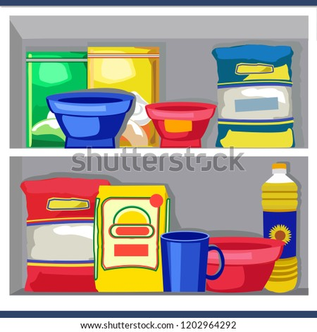 Modern Kitchen Vector Items - Download Free Vector Art, Stock