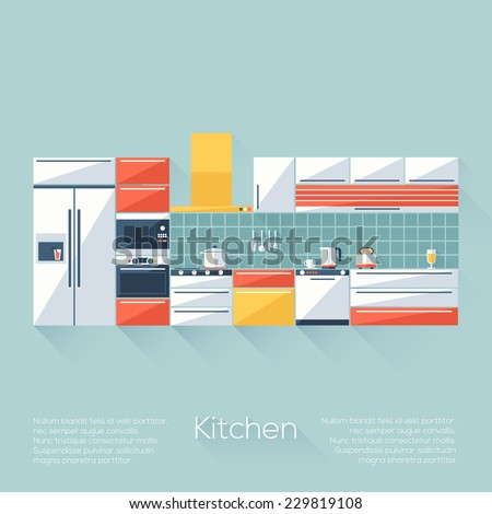 kitchen cover with fridge