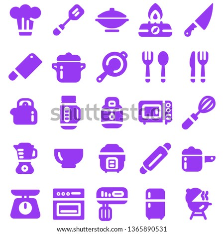 Kitchen Equip Icon in Solid Color Style for Any Purposes, Perfect for mobile, web and desktop application