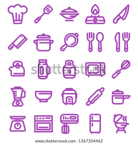 Kitchen Equip Icon set for Any Purposes, Perfect for mobile, web and desktop application