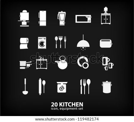 kitchen equipment set (vector)