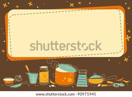 Kitchen Frame in retro style